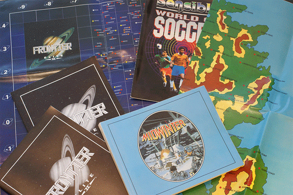 Paper manuals for Amiga games