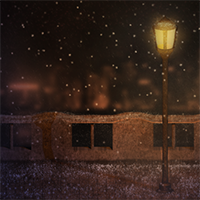 Create a Cozy, Snowy Night Scene Using Particle Effects